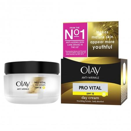 Olay - Pro Vital_Специален дневен крем за жени на 50+ с SPF 15, 50 мл.