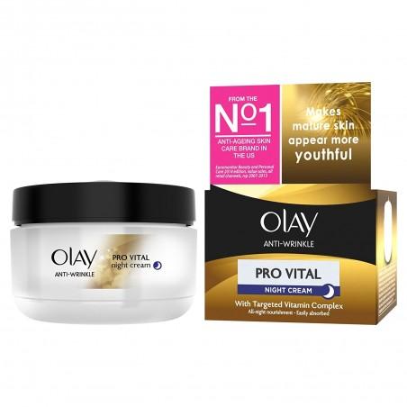 OLAY - Pro Vital_Специален нощен крем за жени на 50+ SPF 15, 50 МЛ.